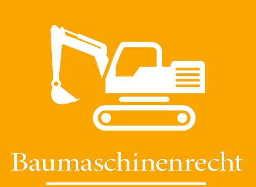 Baumaschinenrecht